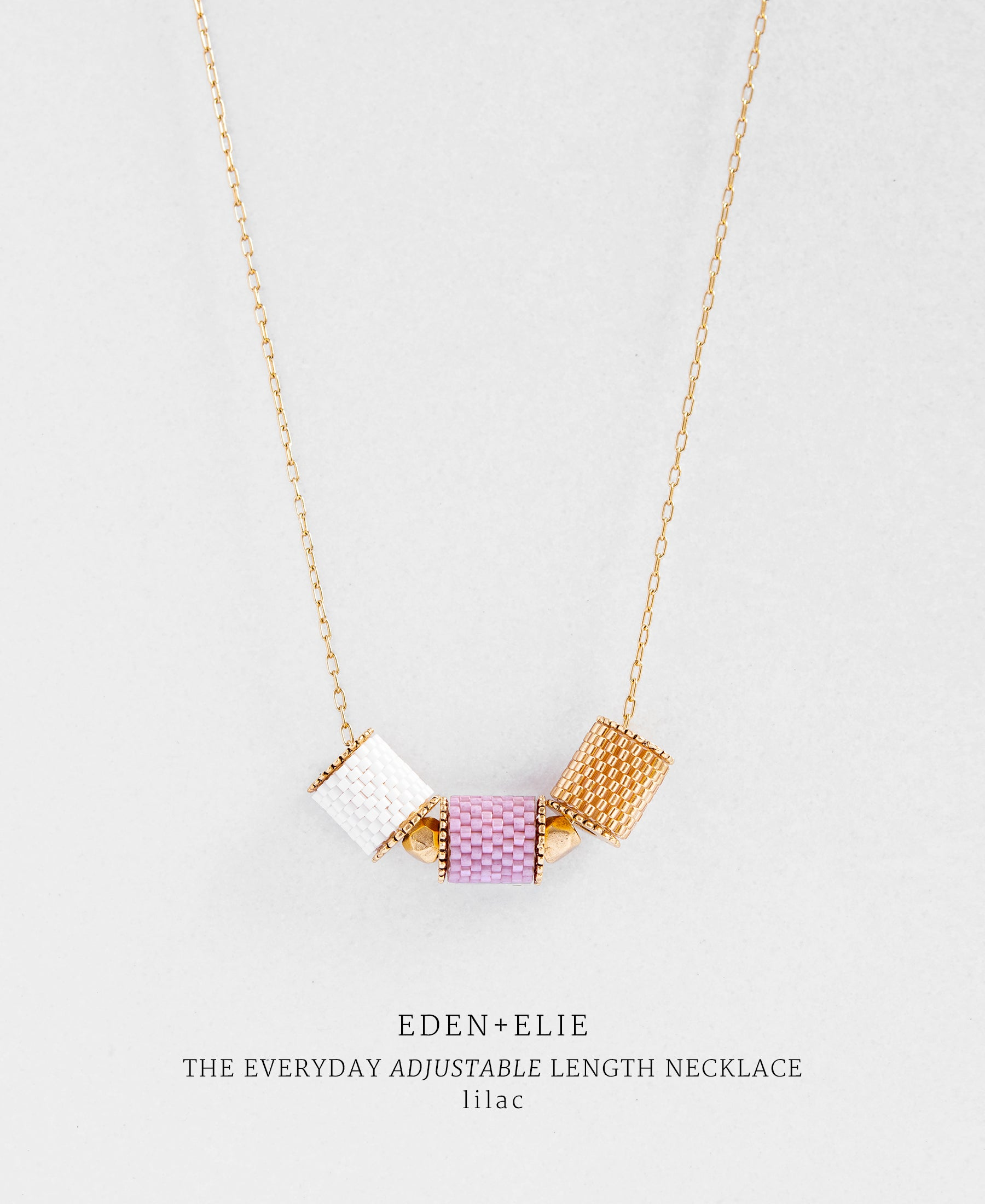 EDEN + ELIE Everyday adjustable length necklace - lilac purple