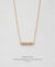 EDEN + ELIE Horizon Horizontal bar necklace - blossom pink