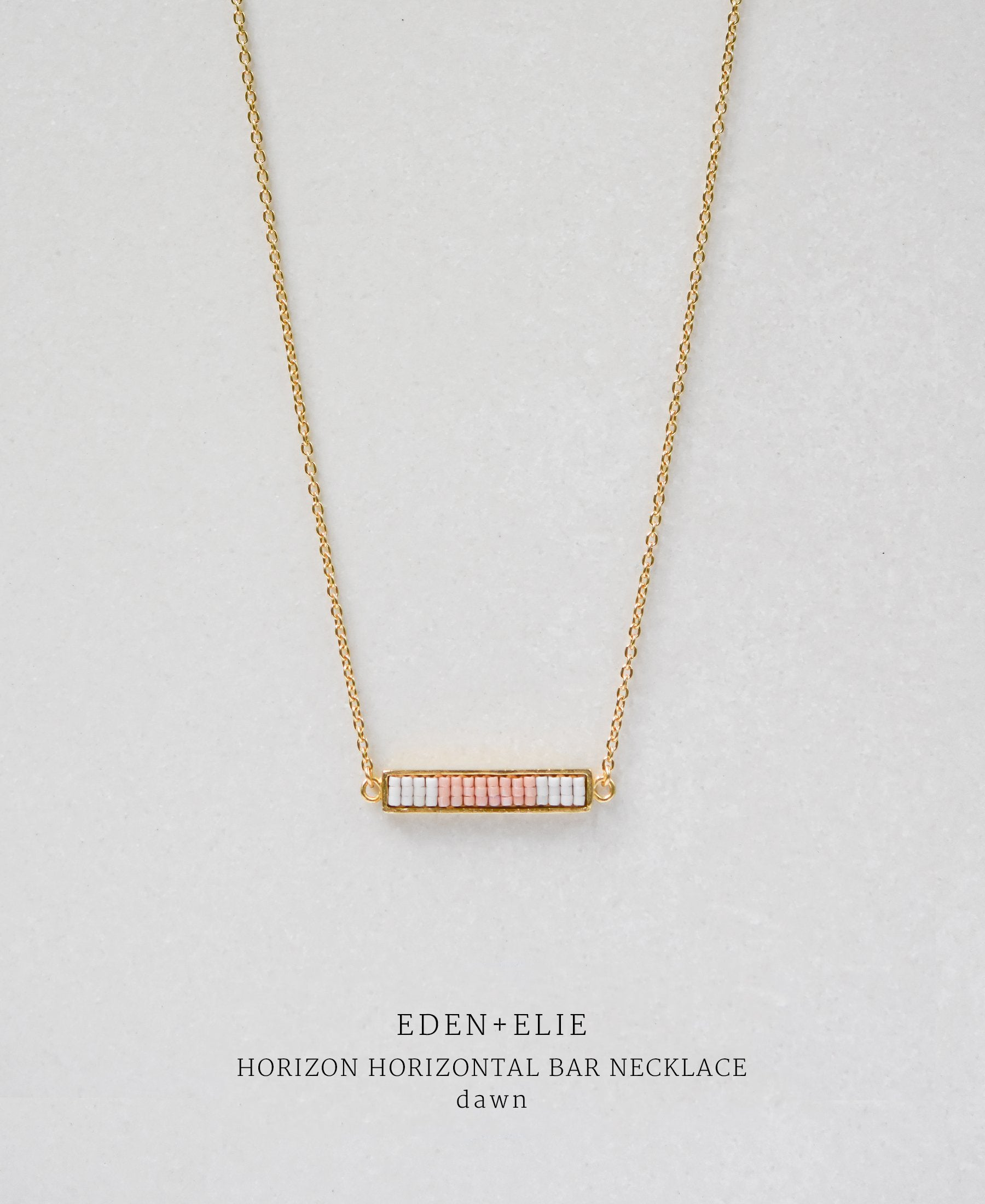 EDEN + ELIE Horizon Horizontal bar necklace - dawn pink