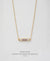 EDEN + ELIE Horizon Horizontal bar necklace - dusk purple