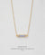 EDEN + ELIE Horizon Horizontal bar necklace - mist blue