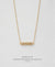 EDEN + ELIE Horizon Horizontal bar necklace - light oyster