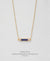 EDEN + ELIE Horizon Horizontal bar necklace - serenity blue