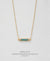 EDEN + ELIE Horizon Horizontal bar necklace - turquoise