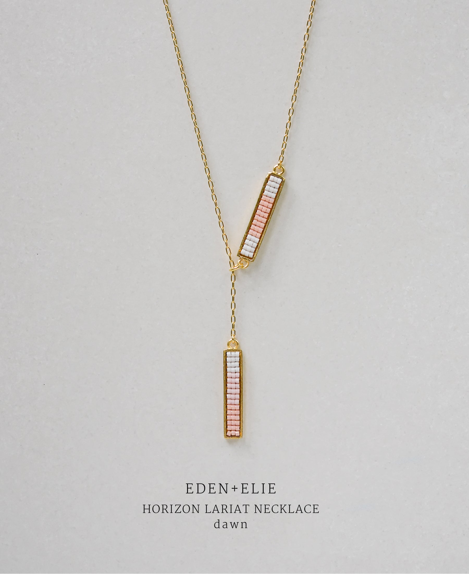 EDEN + ELIE Horizon Lariat necklace - dawn pink
