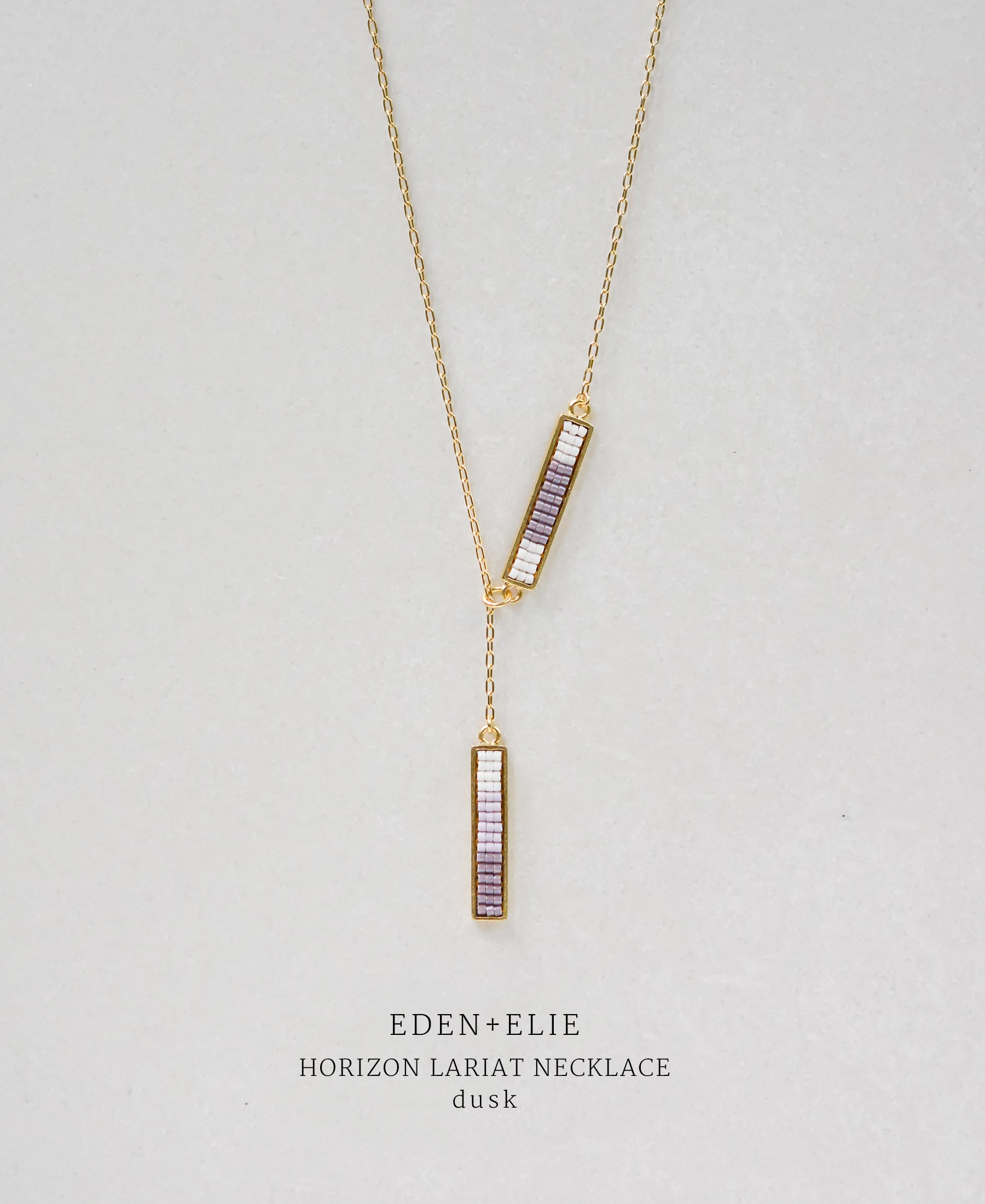 EDEN + ELIE Horizon Lariat necklace - dusk purple