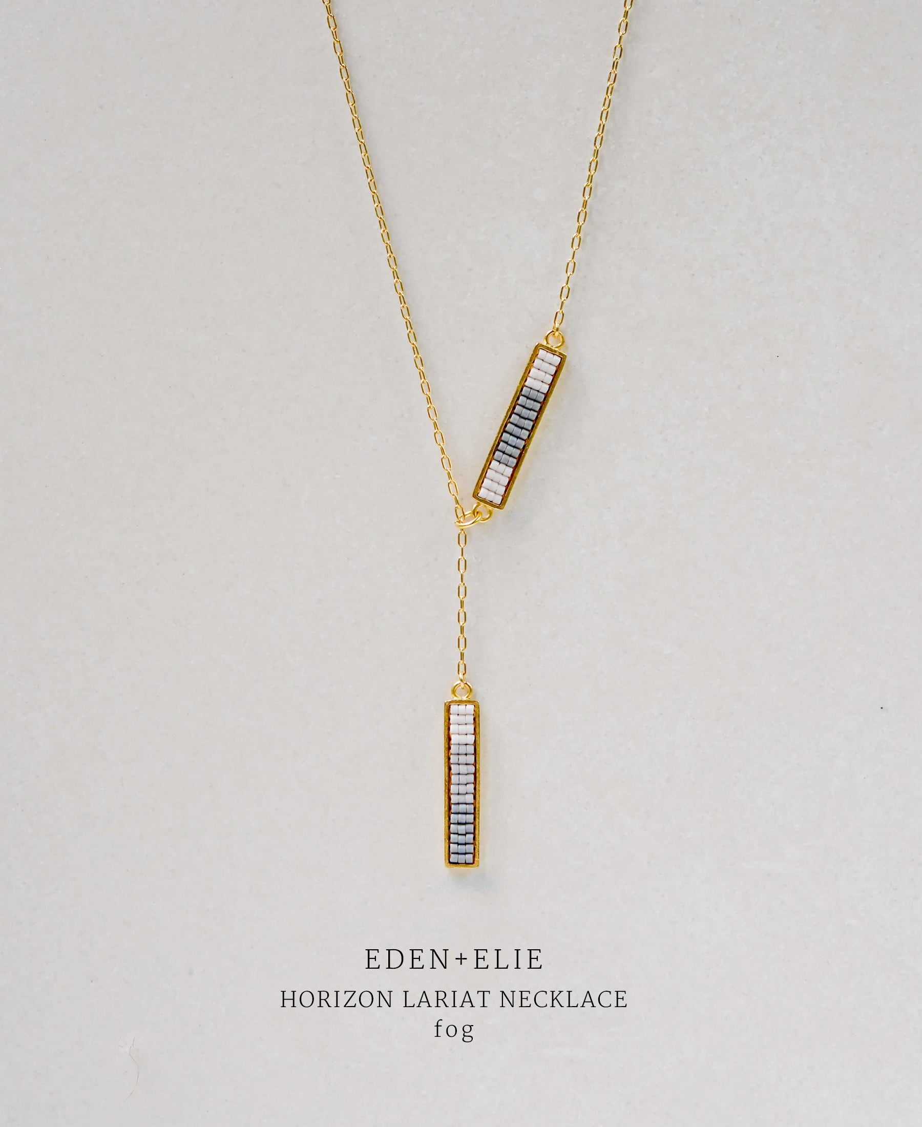 EDEN + ELIE Horizon Lariat necklace - fog grey