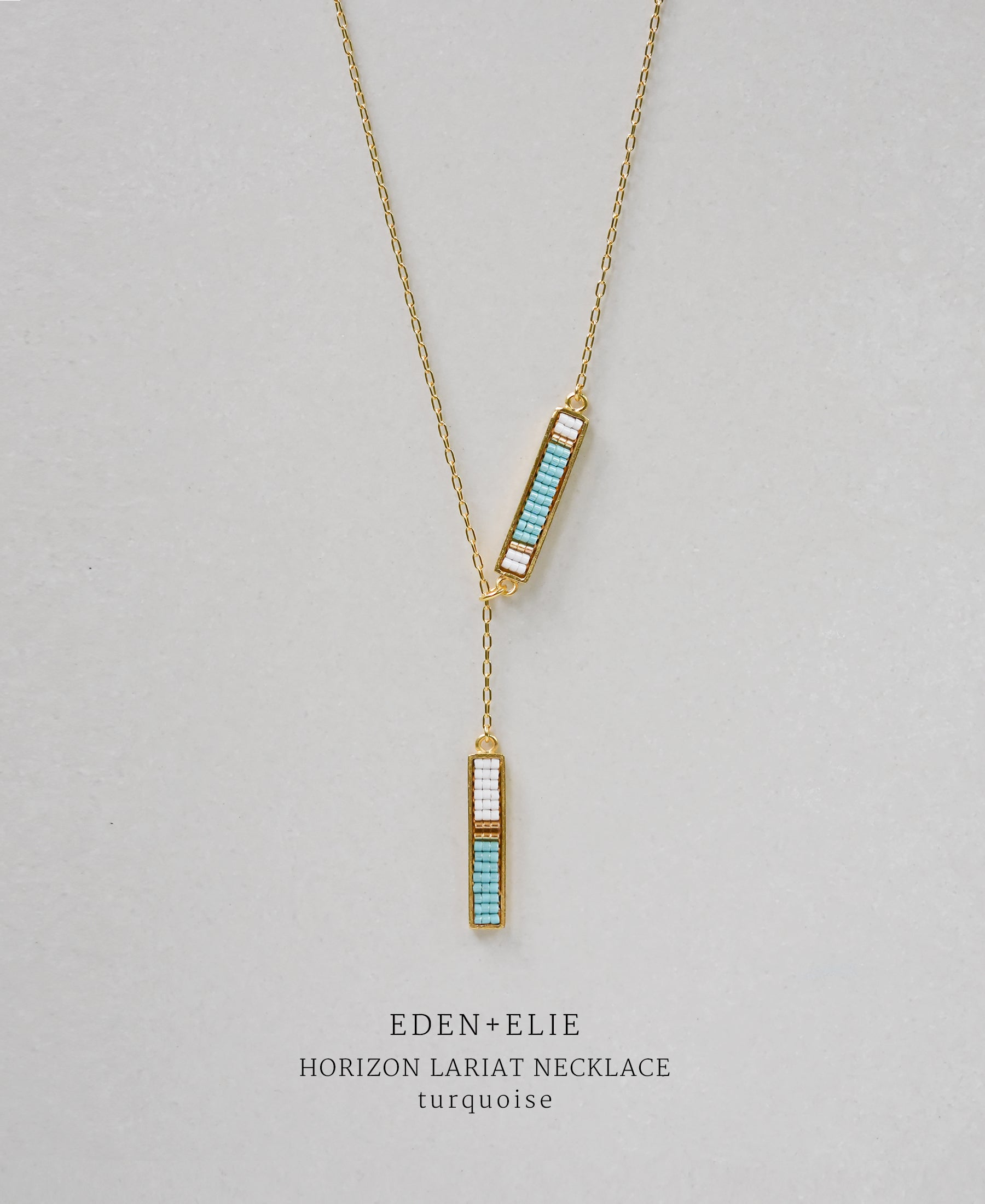 EDEN + ELIE Horizon Lariat necklace - turquoise
