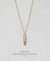 EDEN + ELIE Horizon Vertical bar necklace - dusk purple