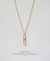 EDEN + ELIE Horizon Vertical bar necklace - mint green