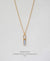 EDEN + ELIE Horizon Vertical bar necklace - mist blue