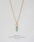 EDEN + ELIE Horizon Vertical bar necklace - turquoise