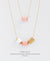 EDEN + ELIE Mother-Daughter twinning necklaces set - blossom pink