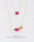 EDEN + ELIE Mother-Daughter twinning necklaces set - dahlia purple