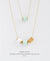 EDEN + ELIE Mother-Daughter twinning necklaces set - mint green