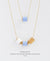 EDEN + ELIE Mother-Daughter twinning necklaces set - mist blue