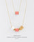 EDEN + ELIE Mother-Daughter twinning necklaces set - peony pink