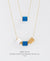 EDEN + ELIE Mother-Daughter twinning necklaces set - royal blue