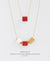 EDEN + ELIE Mother-Daughter twinning necklaces set - true red
