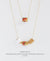 EDEN + ELIE Mother-Daughter twinning necklaces set - peranakan yellow