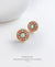EDEN + ELIE Modern Peranakan flower stud earrings - hana