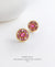 EDEN + ELIE Modern Peranakan flower stud earrings - lilac