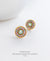 EDEN + ELIE gold plated jewelry Modern Peranakan flower stud earrings - mint