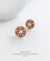 EDEN + ELIE Modern Peranakan flower stud earrings - peach