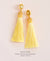EDEN + ELIE silk tassel statement earrings - canary yellow
