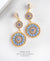 EDEN + ELIE Luxe triple circle statement drop earrings - aquamarine