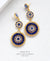 EDEN + ELIE Luxe triple circle statement drop earrings - blue lapis