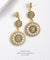 EDEN + ELIE Luxe triple circle statement drop earrings - jade