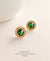EDEN + ELIE Vintage Sparkle stud earrings - emerald green