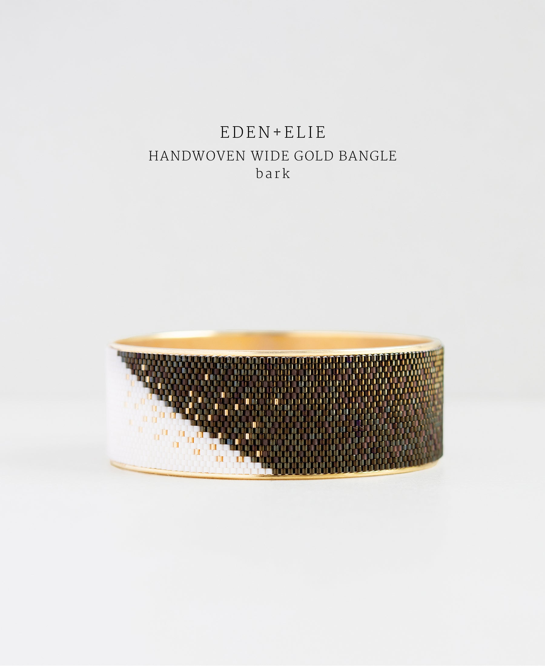 EDEN + ELIE gold plated jewelry Everyday wide gold bangle - bark brown