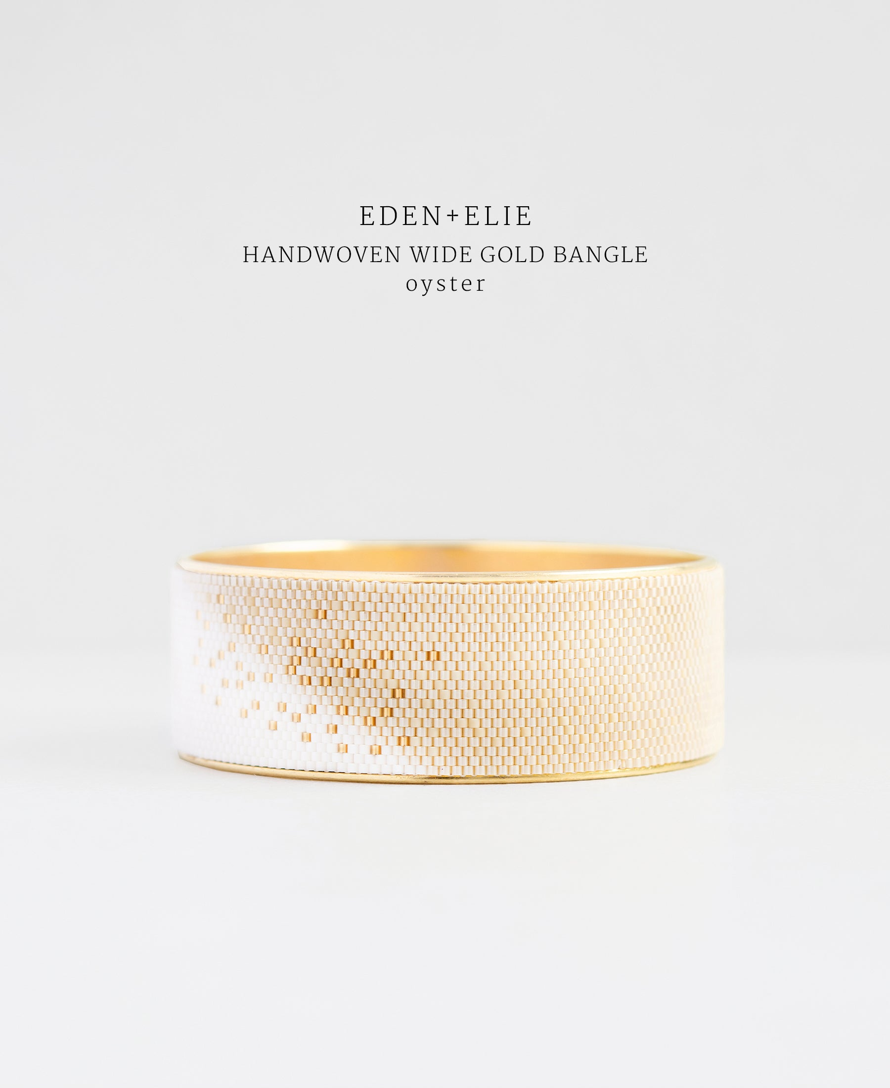 EDEN + ELIE gold plated jewelry Everyday wide gold bangle - light oyster