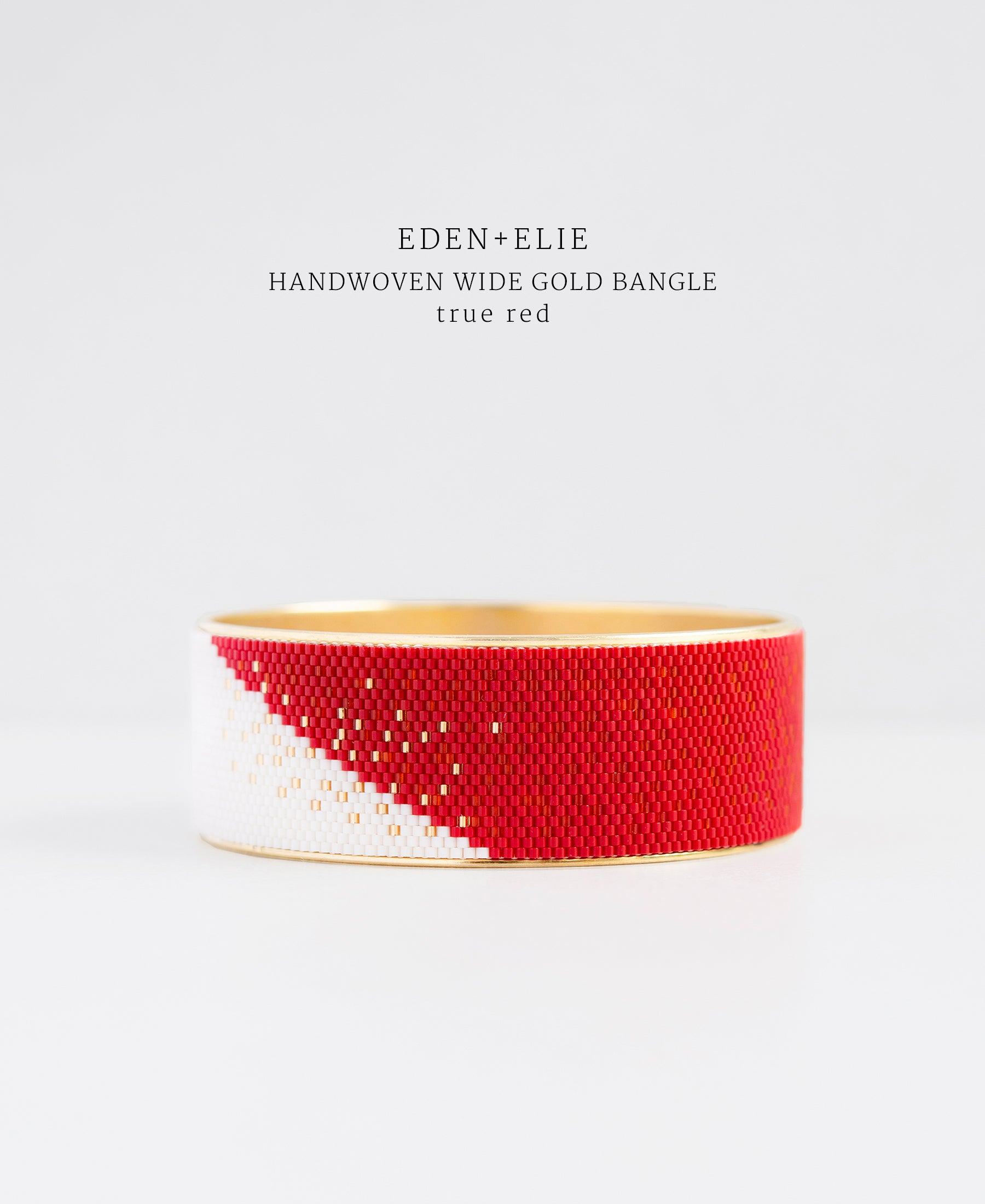 EDEN + ELIE gold plated jewelry Everyday wide gold bangle - true red