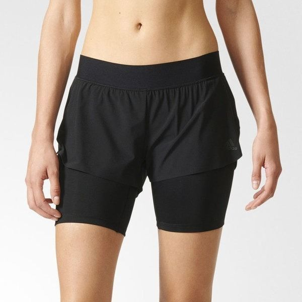Adidas Women's Two in One Gym Short Black AP9520