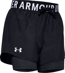 (This item available end of April 2021) Girls' HeatGear® Armour 2-in-1 Shorts 1351695-002