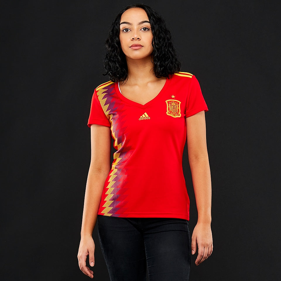 Women's Soccer Spain Home Jersey BR2716