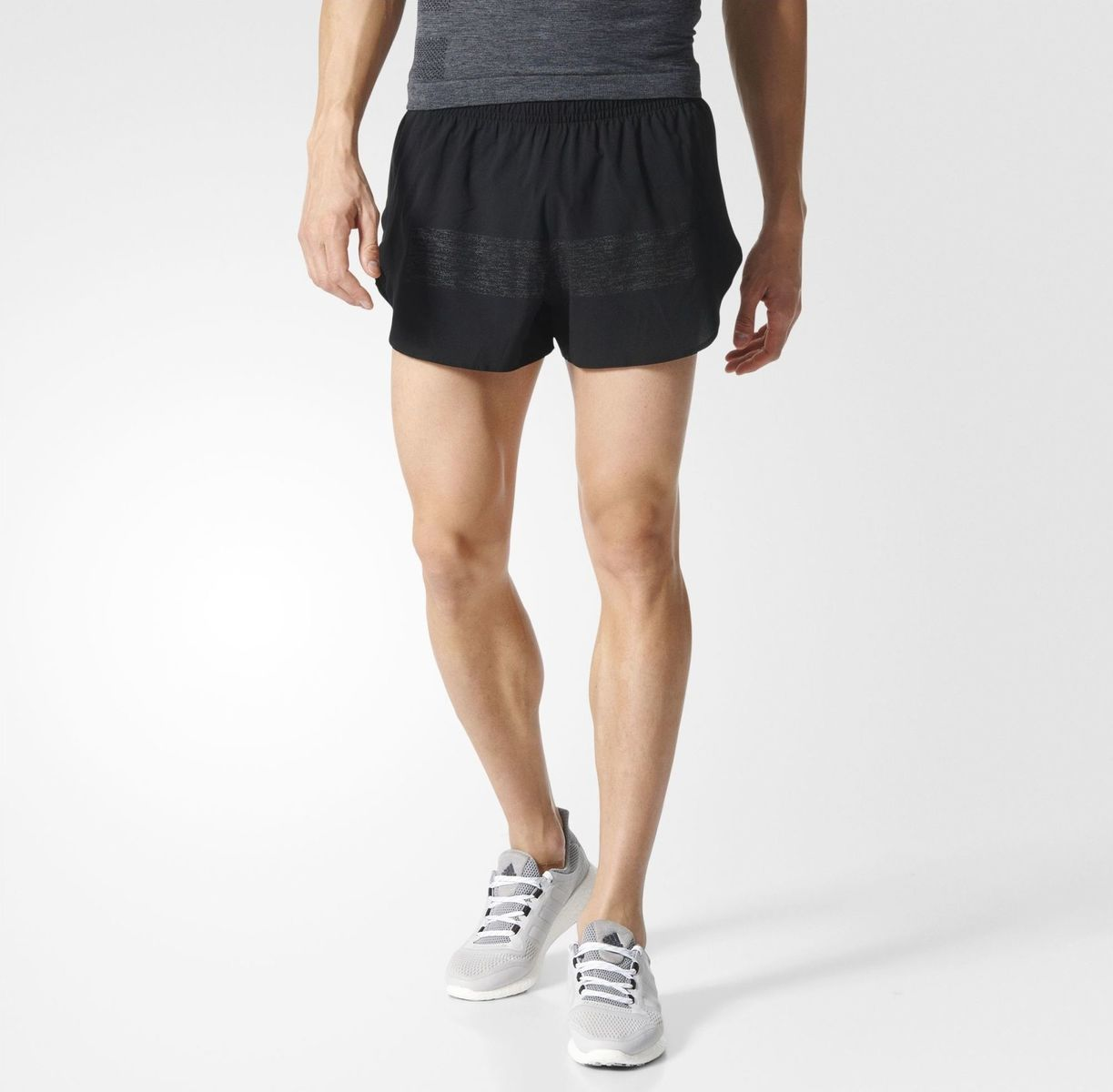 Adidas Supernova 3in Split Shorts Black S94399