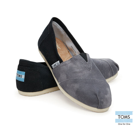 Toms shoes women's classics Black Canvas Washed 10004890