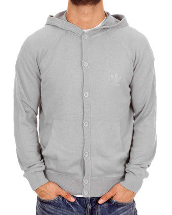 O57872 adidas Men's Hooded Knit Cardigan