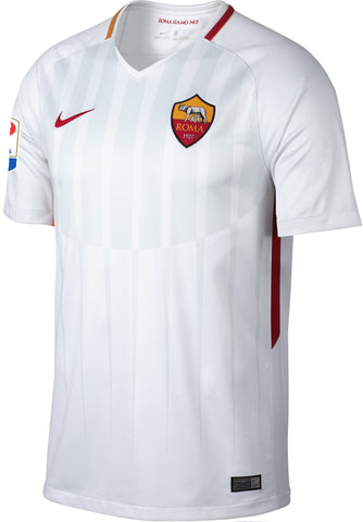 NIKE 847283-100 AS Roma Football Soccer Away Shirt 2017-18