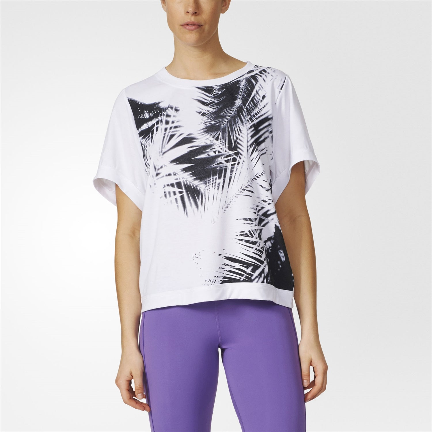 Adidas By Stella Mccartney 100% organic cotton 'Essentials Palm' T-shirt AX7429