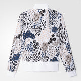 Adidas Women's Allover Print Track Jacket Color: White AY6680