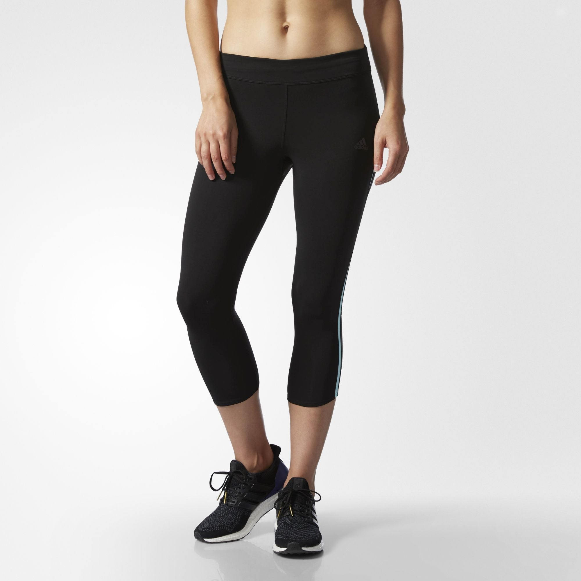 Adidas Response 3/4 Capri Womens Running Tights - Black B47766