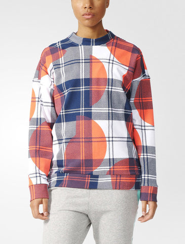 Stella McCartney STELLASPORT CHECK CREW SWEATSHIRT B48017