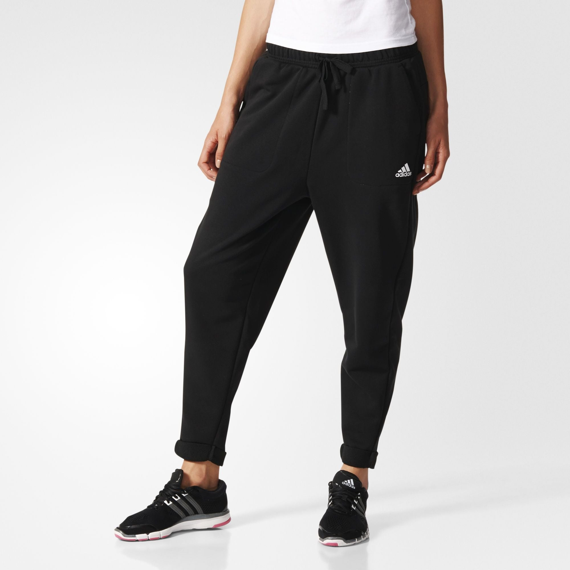 Adidas Women's Essentials Boyfriend Pants Black-S97161