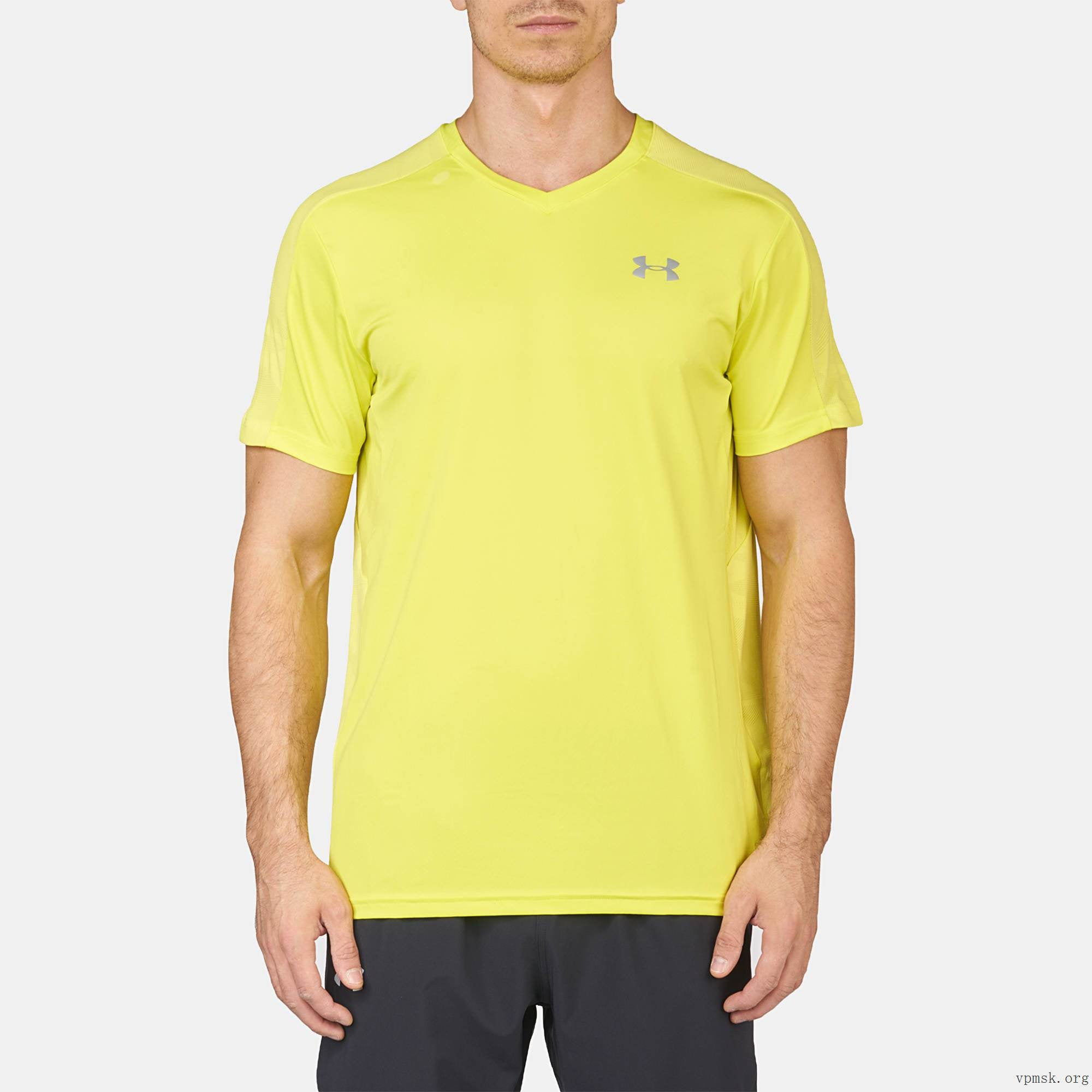 brand new fcd01 4b7e5 Under Armour CoolSwitch Run Short Sleeve Mens Top - Yellow 1284965-738