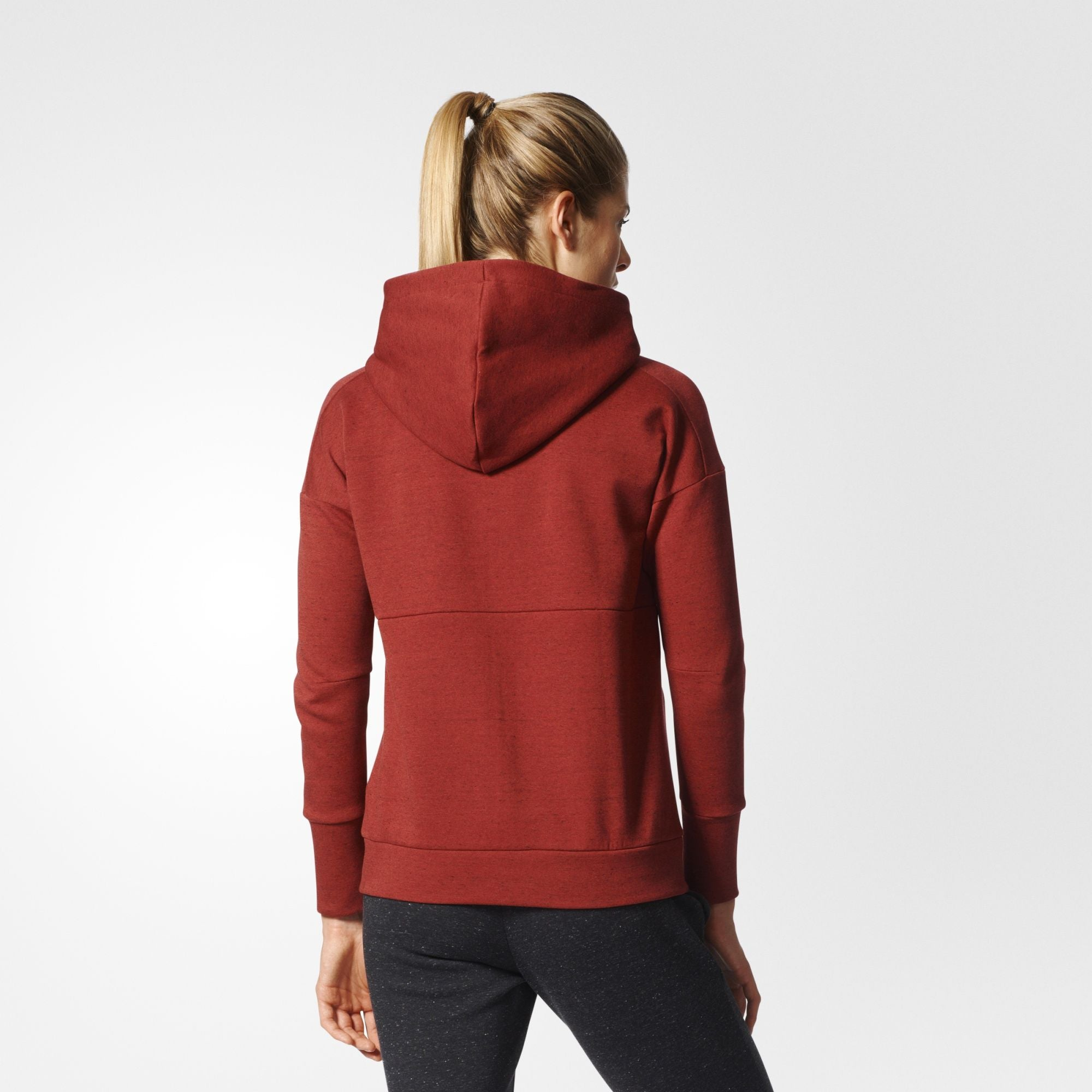 ccb68a01c440 Stadium Hoodie Womens Athletics Adidas Hoodies   Track Tops Mystery Red  S97088